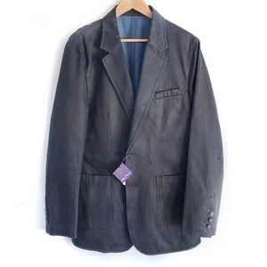Navy Alan Flusser Classic Blazer Jacket Coat